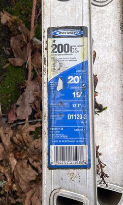 Werner 20' Extension Ladder for Sale in Beaverton,  OR