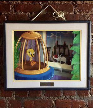 Vintage 1998 Looney Tunes Animated 3D talking Tweety Bird Framed With COA for Sale in Paterson, NJ