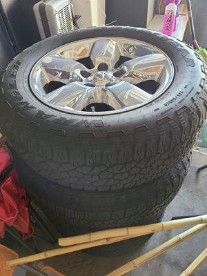 20 in Ram rims, tires and grill for Sale in Dallas, TX