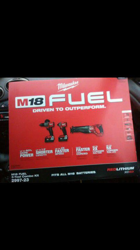 Milwaukee M18 fuel 3 piece