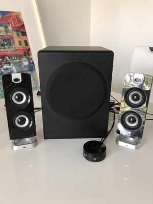 Cyber Acoustics CA-3602 speakers with subwoofer for Sale in Los Angeles, CA
