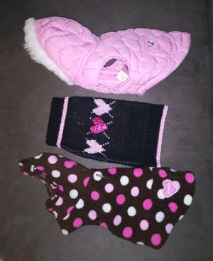 3 smaller dog jacket and sweater and fleece for Sale in Lakeland, FL