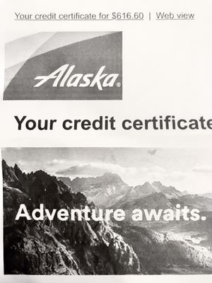 Alaska Airlines (2) $615 Flight Vouchers ($1230 Total) for Sale in Port Orchard, WA