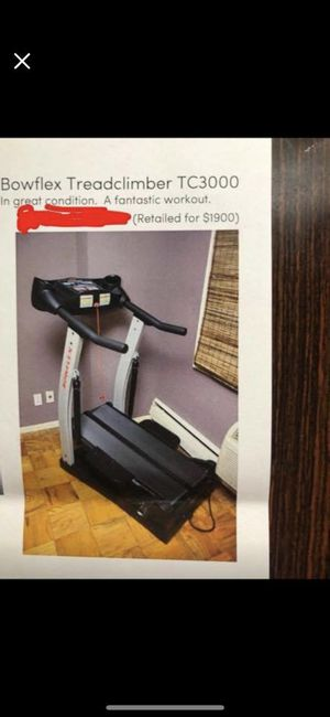 Treadmill bowflex treadclimber tc3000 give best offer for Sale in New York, NY