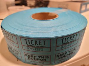 Amscan Double Ticket Roll for Sale in San Jose, CA