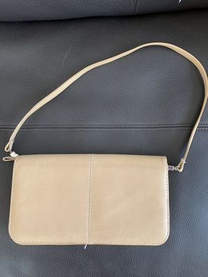 Beige leather clutch for Sale in Issaquah, WA