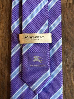 Burberry Purple & Blue Regimental Stripe Tie for Sale in Coronado, CA