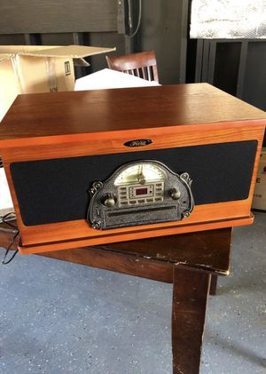 Retro classic music stereo system with turntable for Sale in Menifee, CA