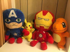 Captain America, Iron Man, Pokémon characters for Sale in Philadelphia, PA