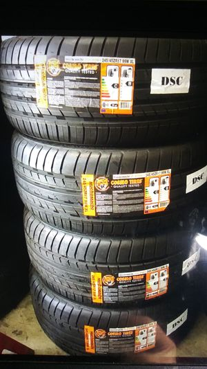 Set4tires 245 45 18 instaled balance total price ELMOFLES for Sale in West Puente Valley, CA