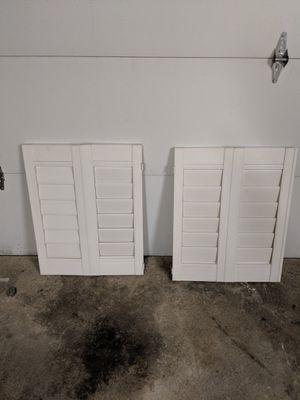 Plastic Window Shutters - 6 slats for Sale in South Farmingdale, NY