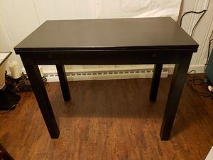 IKEA BLACK DESK DINNETTE TABLE WOOD W/ SIDE WINGS for Sale in Englewood, CO