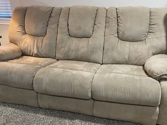 Tan Microfiber Sleeper sofa And Reclining Loveseat for Sale in Irving,  TX