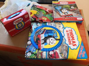 Thomas & Friends Bundle of 4-Giant puzzle & Busy book with 12 train figures & 4 board books & Look and find book for Sale in New York, NY