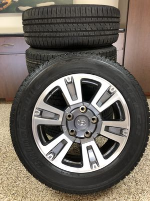 """20"""" Toyota Tundra Chrome/Charcoal Rims & Tires for Sale in Portola Hills, CA"""