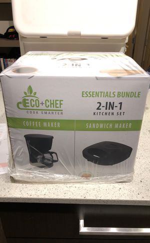 New Eco+Chef Coffee Maker and Sandwich Maker for Sale in Houston, TX