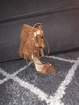 Open toe fringe heel size 10 for Sale in Raleigh, NC