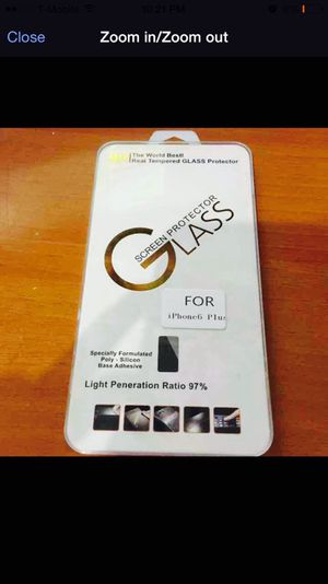 High quality Tempered Glass screen protector for iPhone 6 Plus for Sale in New York, NY