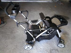 Graco click connect stand and ride double stroller. for Sale in Wichita, KS