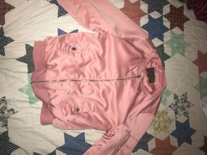 Pink long Sleeve Zip up Jacket, Size S for Sale in Alexandria, VA