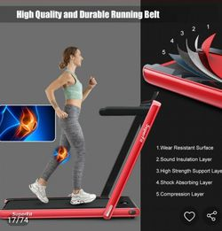 2-in-1 Electric Motorized Health and Fitness Folding Treadmill with Dual Display and Bluetooth Speaker for Sale in El Monte,  CA