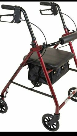 walker with seat and storage and 4 wheel rollator for Sale in Brooklyn,  NY