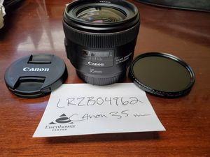 Canon EF 35mm Camera Lens for Sale in Ann Arbor, MI