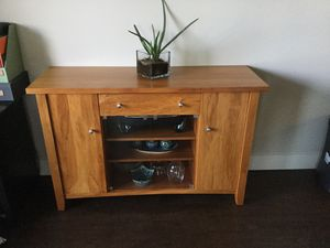 Solid wood buffet from New Zealand (originally $800) for Sale in Anaheim, CA