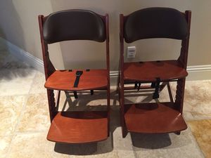 Kids Chairs — 2 Keekaroo Height Right Kids Chairs for Sale in Palm Harbor, FL