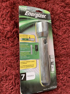 Energizer Rechargeable 1000 Lumens Vision HD Flashlight 7 Modes Device Charger for Sale in Las Vegas, NV