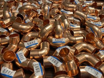 Three-quarter inch copper fittings for Sale in Rosenberg,  TX
