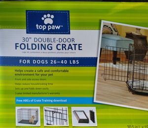 """30"""" Double Door Folding Dog Crate for Sale in Lawton, OK"""