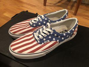 Vans era van doren stars and stripes american flag mens size 13 vans for Sale in The Bronx, NY