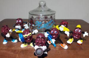 California Raisins Vintage Figures & Glass Jar 80s Toys for Sale in Marietta, GA