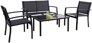 NEW 4 Pieces Patio Furniture Outdoor furniture Outdoor Patio Furniture Set (black/yellow) for Sale in Las Vegas, NV