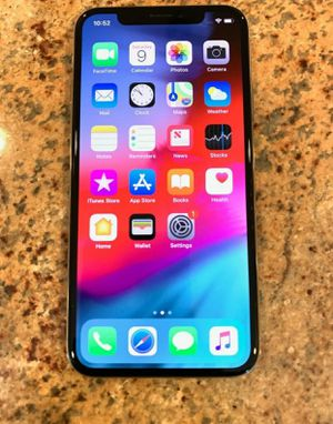 iPHONE X SILVER 64GB FACTORY UNLOCKED T-MOBILE METRO ATT CRICKET AT&T TMOBILE UNLOCK 64 for Sale in Hollywood, FL
