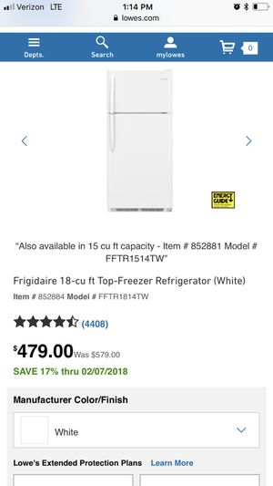 Refrigerator for sale, must go for Sale in Pittsburgh, PA