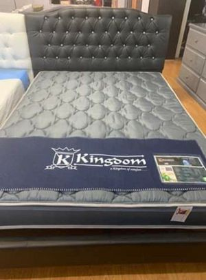 Brand new diamond bed frame wirh mattress queen size for Sale in Ontario, CA