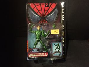 Brand New Toybiz Super Poseable Green Goblin 2001 Spiderman Movie for Sale in Malden, MA