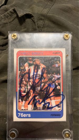 Signed Charles Barkley card for Sale in Richland, WA