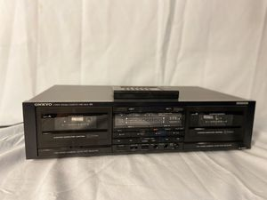 ONKYO Stereo double cassette tape deck for Sale in Brooklyn Center, MN