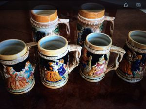 Nice set of 5 Beer Cup in Excellent condition. hand made . for Sale in Kirkland, WA