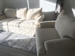 Sofa w/ matching Sofa Chair - Beige MAKE OFFER for Sale in Tampa, FL