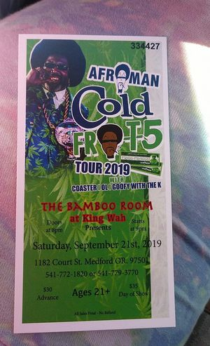 Afroman concert tickets for Sale in Medford, OR
