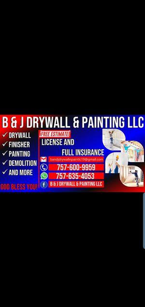 B & J DRYWALL & PAINTING LLC for Sale in Norfolk, VA