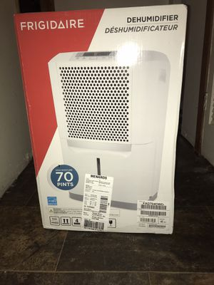 Brand new never been used Frigidaire 70 pint dehumidifier. Still in the box never been used or opened. for Sale in Crete, IL