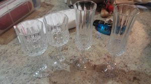4 crystal glasses for Sale in Kingsley, MI