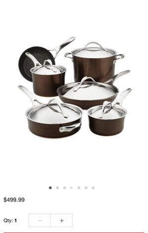 Brand new - Anolon nouvelle 11 piece copper hard anodized cookware set for Sale in Vienna, VA