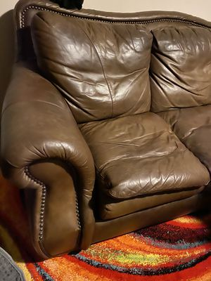 Leather couch for Sale in Houston, TX