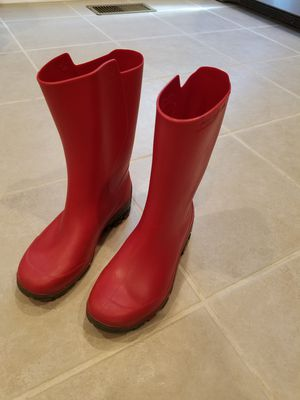 Red rain boots - kids. Size 2. Like new for Sale in Springfield, VA